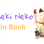 maneki neko coin bank fortune gold